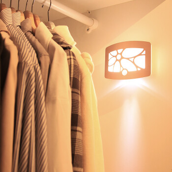 朗美科(Lightmates) WS01 充电创意节能光控人体感应LED壁灯氛围婴儿床头过道玄关小夜灯 金色花满月