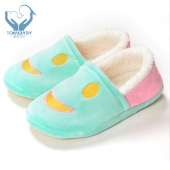 多米贝贝 秋冬季 珊瑚绒月子鞋 舒适平底孕妇鞋 超柔包跟防滑软底 超柔图片