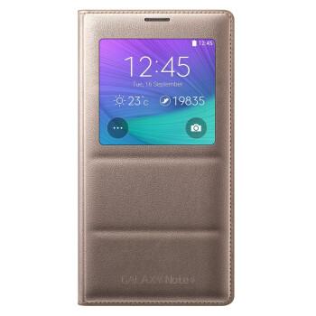 三星(SAMSUNG) Note4 手机 智能保护套 暮光金