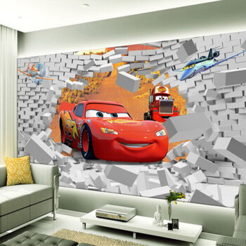 幼儿园背景卡通主题背景墙纸3d壁画卧室寝室宿舍房间大型墙布创意定制图片