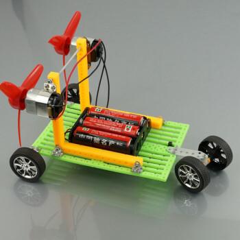 手工科技小制作小发明创意风动力车双马达螺旋桨玩具模型拼装