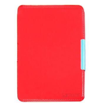 雷麦(LEIMAI) LM-KP20 Kindle Paperwhite皮套保护套 吸附款 高档PU 疯马纹 红色