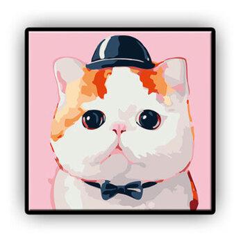 带内框卡通diy数字油画儿童房可爱动漫小动物狗猫萌宠物填色手绘装饰