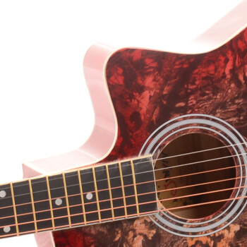 金音迷彩手绘 吉他 缺角民谣