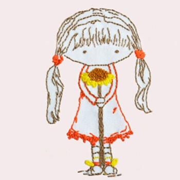 幼儿园儿童diy手工课刺绣制作 孩子简单卡通动物针线材料包 非成品 小