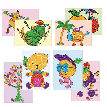 儿童手指画宝宝手指画绘画套装颜料印泥卡片可水洗无毒水彩画玩具创意图片