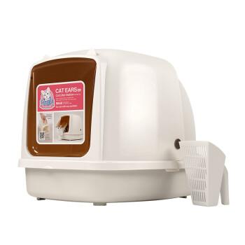 猫乐适猫砂盆猫耳朵全封闭特大猫砂盆猫厕所CL101-XL