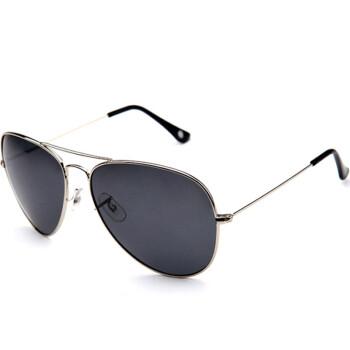 Gameking M3025J 潮流蛤蟆眼镜偏光太阳镜男款 银色