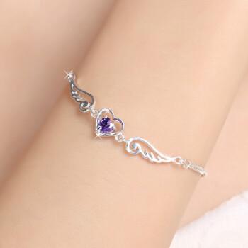 朵纬斯纯银手链女 生日礼物 创意礼物 女款纯银女士情侣送女 守护天使 白色1 990纯银