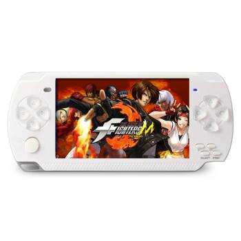 小霸王PSP掌上游戏机200 学生儿童4.3寸彩屏益智GBA掌机 经典怀旧街机王电玩MP5 白色 8G版本