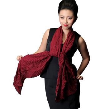 雪卡思2014年秋冬季新款时尚女士围巾树叶褶保暖披肩围巾仿棉麻围巾 9.9多色可选