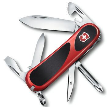 维氏VICTORINOX德莱蒙系列 瑞士军刀 新生代2.4803.C红黑防滑握柄 14种功能