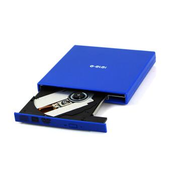 E磊 外置光驱康宝 笔记本外接光驱 台式移动DVD光驱 USB光驱 CD刻录机 EL-R7 蓝色