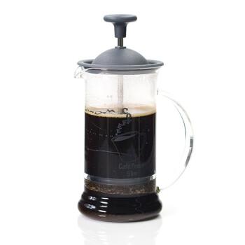 HARIO 日本原装进口耐热玻璃240ml法压式咖啡壶 玻璃冲茶器 CPSS-2-TB黑色