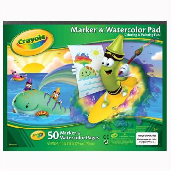 绘儿乐(Crayola)环保卡纸 绘画工具 图画画纸 涂鸦纸 50页水彩画纸99-3403