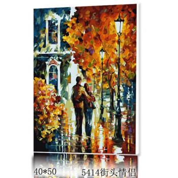 海娜怡家 diy手绘数字油画40*50厘米 无框装饰画 卧室