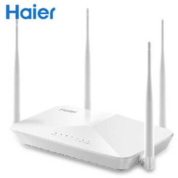海尔(Haier)无线路由器智能wifi四天线桥接大功率中继器AP增强穿墙王300m