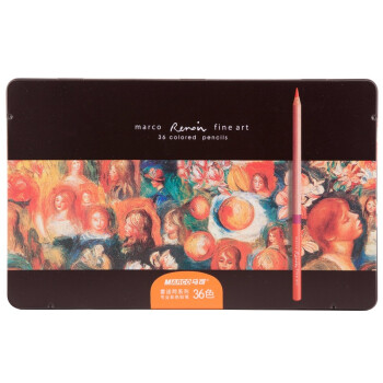 马可(Marco)3100-36TN 雷诺阿彩色铅笔 36色铁盒装