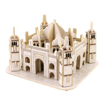 3d立体拼图木质建筑拼装模型儿童成人益智积木木制玩