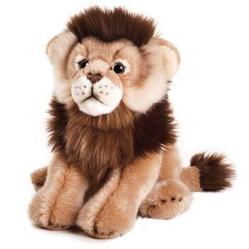 动物娃娃毛绒玩具仿真模型儿童宝宝动物世界摆件 雄狮 10寸
