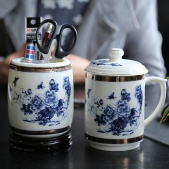 鼎艺精品陶瓷茶杯手绘笑佛纯手工制作瓷质细腻釉面光滑造型美礼盒装