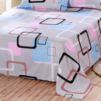 艾薇(AVIVI)床单单件纯棉40支斜纹印花大被单双人床1.5米/1.8米床230 250胭脂扣