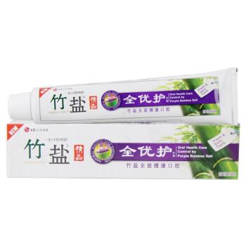 LG竹盐 全优护原味 牙膏 170g (精炼竹盐 全优呵护)(新老包装随机发送)