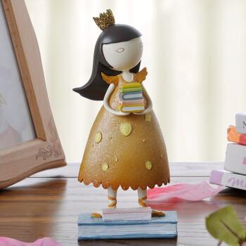欧式田园美女小女孩装饰品卧室装饰现代树脂新年创意礼物可爱小摆件