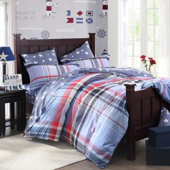 博洋家纺 纯棉 高支全棉印花被套床单四件套多花型热销 米纳 1.5米床
