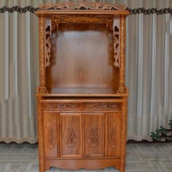 静阁轩 大佛龛立柜佛柜菩萨神柜实木财神柜子供佛台佛堂双位神台桌