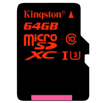 金士顿(Kingston)64GB 90MB/s TF(Micro SD)Class10 UHS-I高速存储卡 中国红