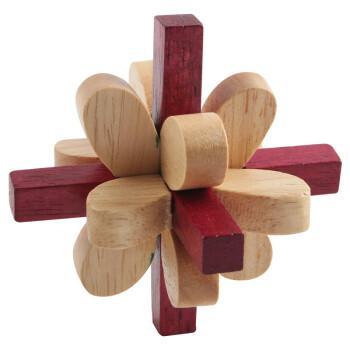 孔明锁丁香锁_汇乐宝儿 儿童木制解锁智力玩具孔明锁鲁班锁桌游 丁香花
