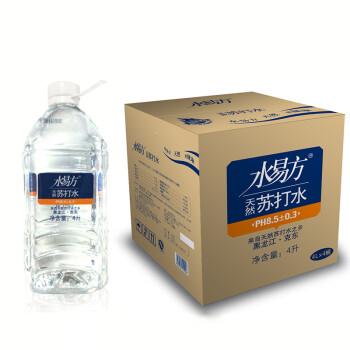 水易方天然苏打水 弱碱性水 4L*4桶