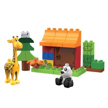 奥迪双钻(auldey)益启搭中玩具熊猫乔西借积木ha381005玩具店教案及反思图片