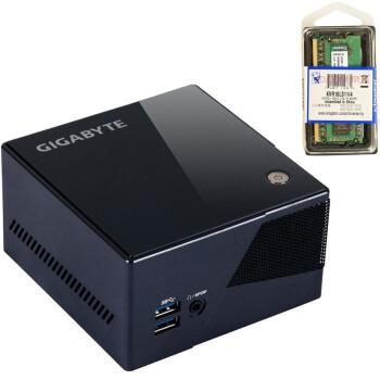 技嘉(GIGABYTE) GB-BXi7-4770R Brix旗舰级超迷你PC 带金士顿内存/无线网卡优惠套装(不含硬盘)