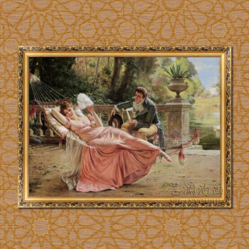 欧卡油画手绘挂画壁画客厅装饰画餐厅墙画欧式古典风景画高档山水画源