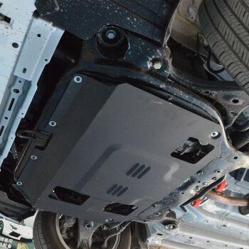 底盘装甲下护板发动机防生锈挡泥板 车身改装专用配件 钛合金 13速腾
