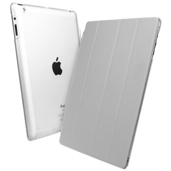 亿色 (ESR) iPad4/new iPad/iPad3/iPad2 Smart Cover 保护套 经典款 (灰色)