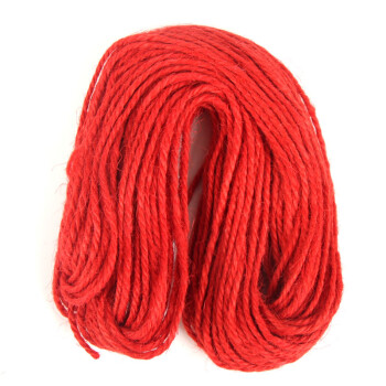 大贸商 22米原色细腊麻绳吊饰麻蜡绳幼儿园手工diy材料 ef01360红色