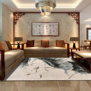 东升 新中式客厅地毯简约加厚 现代茶几地毯卧室满铺床边毯 2000mmx2