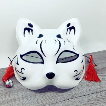2017新品创意万圣节火影猫面具 半脸舞会派对狐狸手绘