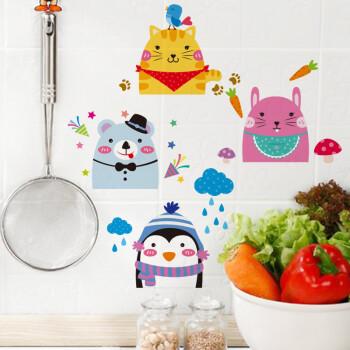 幼儿园墙壁装饰开关贴插座创意搞笑贴关灯 可爱开关贴 小熊 猫咪 兔子