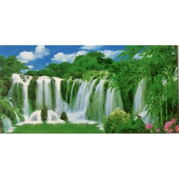 山水风景客厅年画墙画装饰纸画大西湖风景荷花亭画贴图 2007 山水竹林