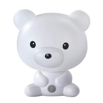 聪明熊萌兔卡通台灯可爱情侣猪酷猫卧室床头夜灯滑板男孩宝宝房灯插电