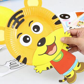 纸盘画贴纸画儿童手工制作材料包幼儿园diy粘贴画创意