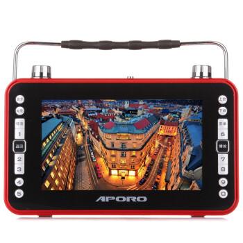 阿波罗(APORO)A728 7英寸老人看戏机高清视频播放器(吉祥红)
