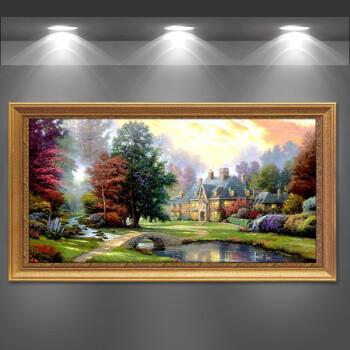油画卧室 壁画 客厅装饰画 沙发背景墙画风景山水挂画