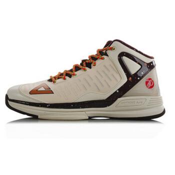 PEAK匹克篮球鞋帕克二代2代TP9马刺队战靴减震耐磨运动鞋男E4323A 米白/栗子棕 42 (库存有限)