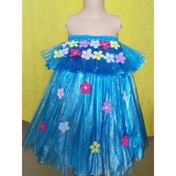 元旦儿童环保服装塑料袋时装秀幼儿园走秀手工制作演出服新品衣服图片