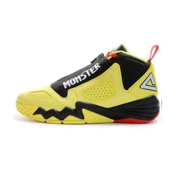 匹克篮球鞋新款男鞋猛兽高帮耐磨防滑减震运动鞋E44311A 闪耀黄/黑色 44